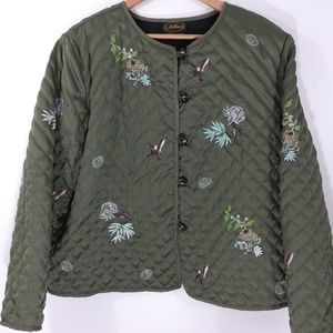 Allure Embroidered Quilted Jacket Size 1X